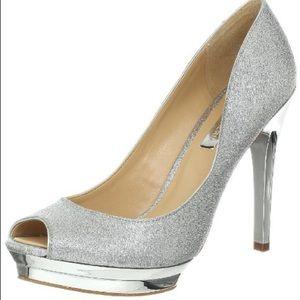 BCBGMaxAzria Sparkly Platform Heels (Brand New)